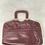 Thumbnail: Vintage Leather Burgundy Handbag
