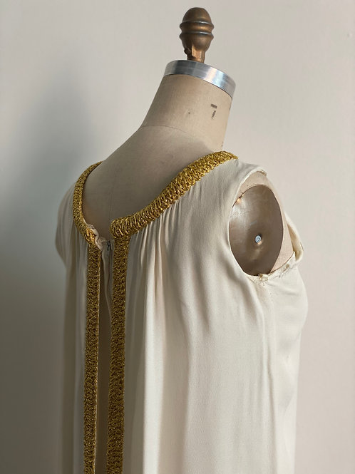 Vintage 1960's Crepe Grecian Gown