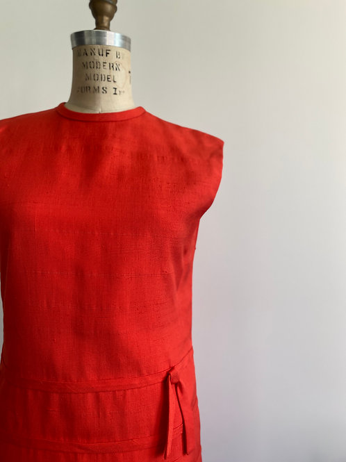 Vintage 1960's Raw Italian Silk Dress