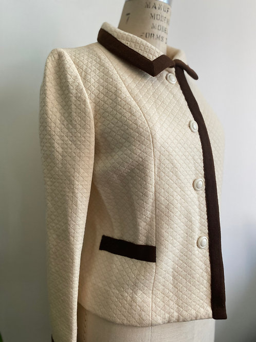 Vintage 1950's Quilted Wool Blazer Medium
