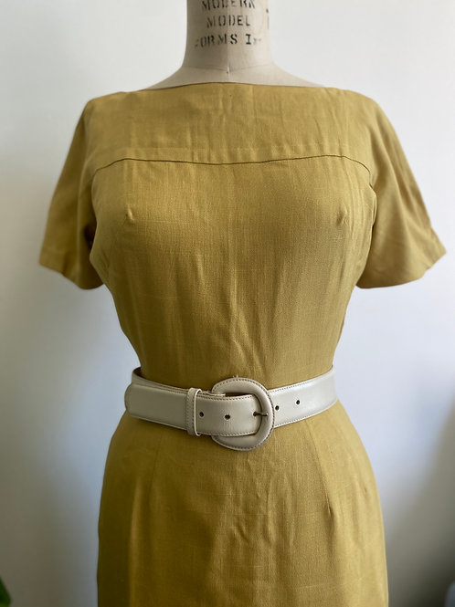 Vintage 1950's Small Silk Wool Wiggle Dress