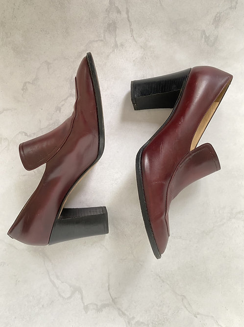 Vintage Leather Oxford Pumps Size 10