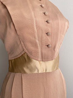 Vintage 1950's Silk Blush Dress