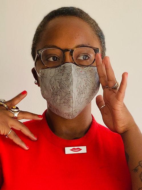 'Dirty Habit' Reusable & Reversible Mask