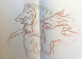 Sketchbook study. Colored pencil. 2018.