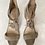Thumbnail: Gray Suede Tasseled Sandal Pumps Size 8.5