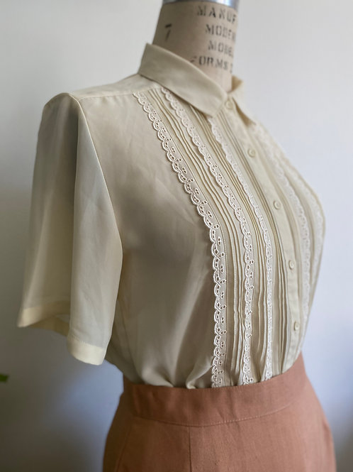 Vintage 1980's Blouse Button Up