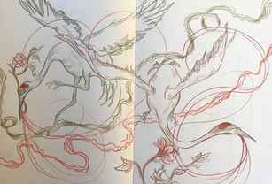 James Jean Sketchbook study. Colored pencil. 2018.