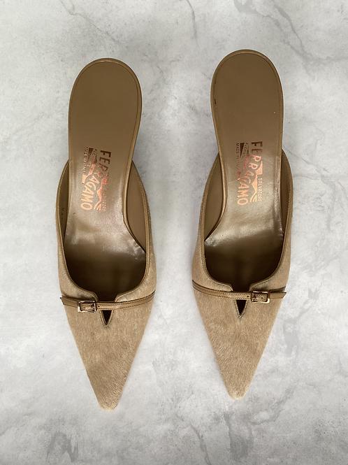 Dead Stock Ferragamo Kitten Heels Size 8.5