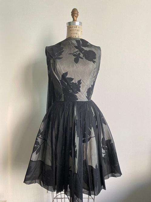 Vintage 1950's Couture Little Black Dress