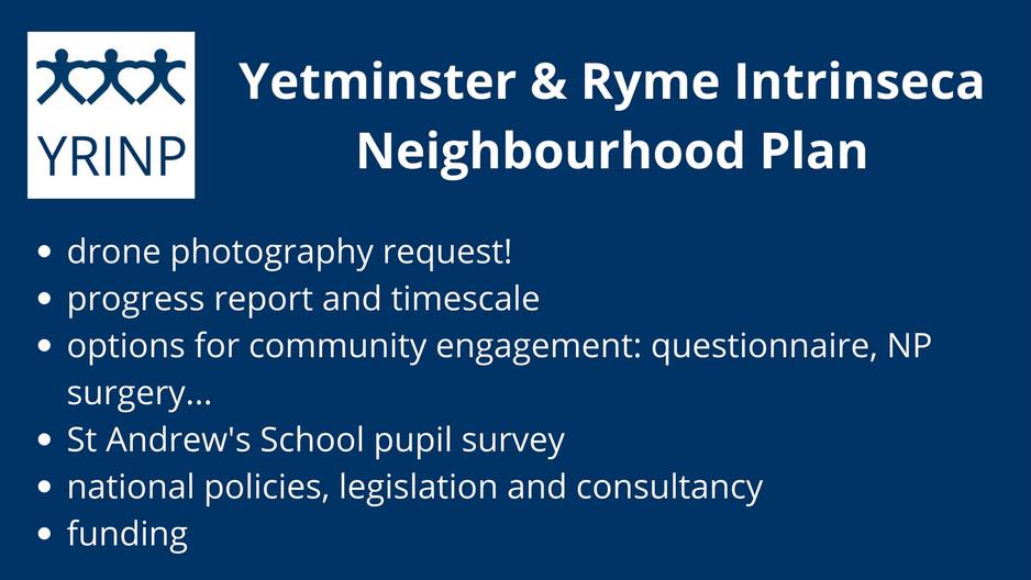 Progress report for our Neighbourhood Plan