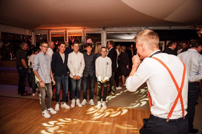 Eventfotograf in Aktion