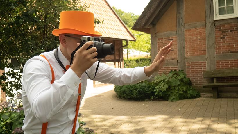 Sofortbildfotograf in Action