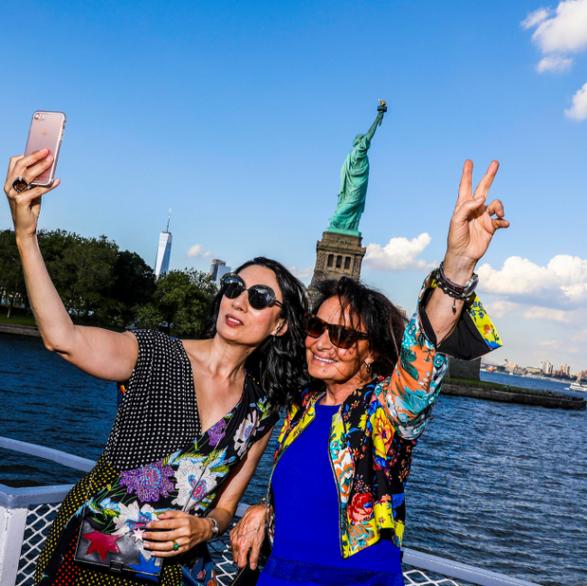 Summer Solstice Event on Liberty Island, Diane von Furstenberg