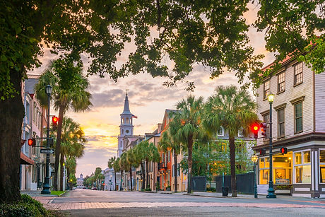 Historical downtown area of  Charleston,