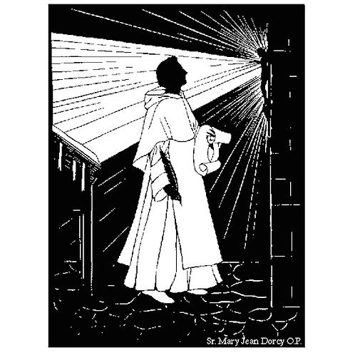 St. Thomas Aquinas Silhouette Prayercard #2124