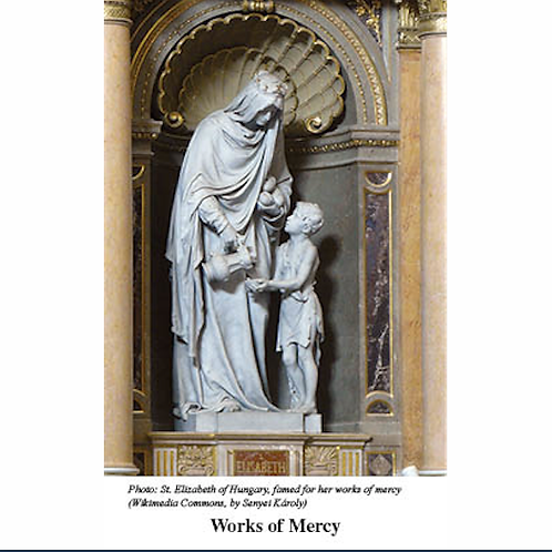 2158 Spiritual and Corporal Works of Mercy Prayer Card
