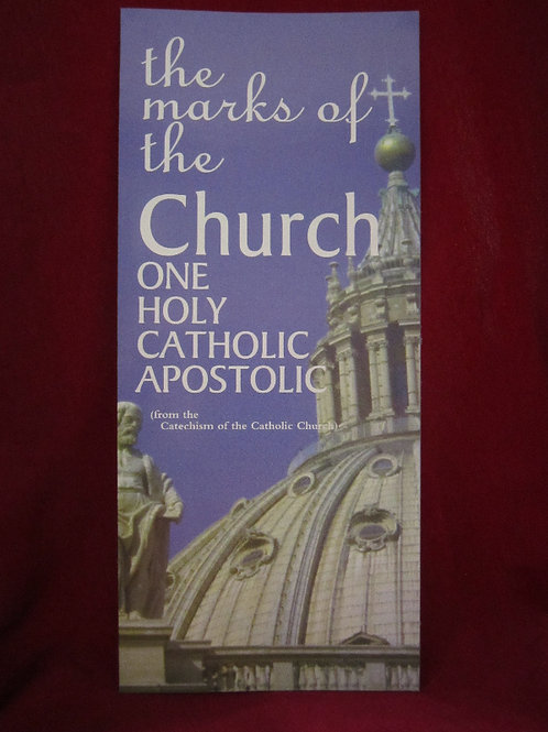 1213 The Marks of the Church (Pamphlet)