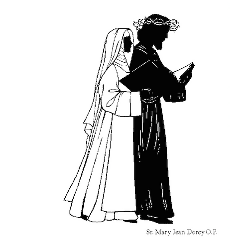 St. Catherine of Siena Silhouette Prayercard #2123