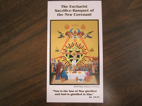 0521 The Last Supper Icon Prayer Card