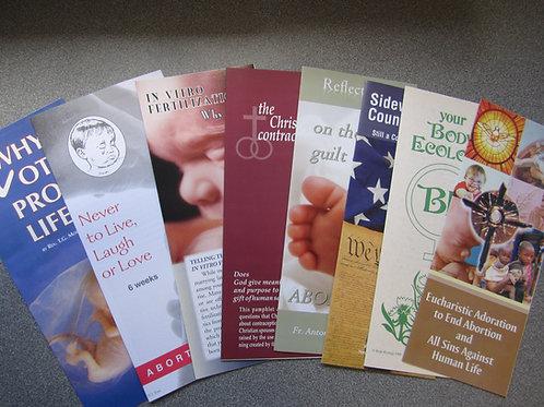 ENGLISH - Prolife Pamphlet Sample Packet #0701