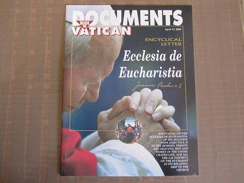 Ecclesia de Eucharistia #3128