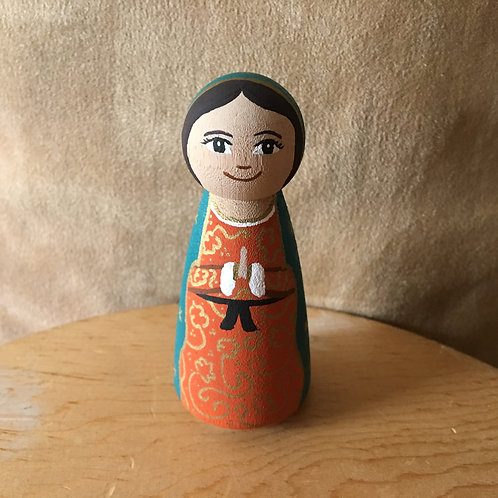 2809 Our Lady of GuadalupePeg Doll