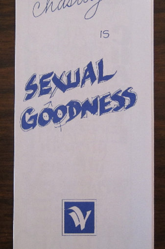 Chastity is Sexual Goodness (Pamphlet) #413