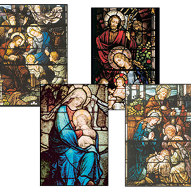 Stained Glass Window Christmas Cards #B2005
