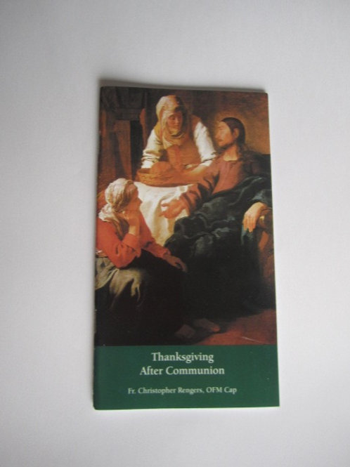 B3256 Thanksgiving After Communion (Booklet)