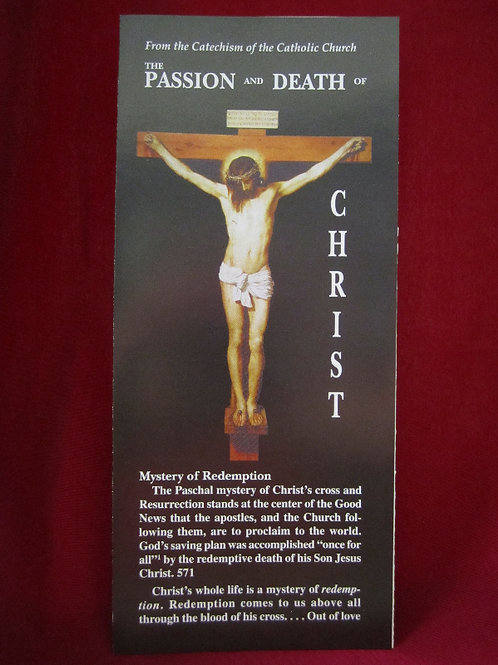 1238 The Passion and Death of Christ (Pamphlet)