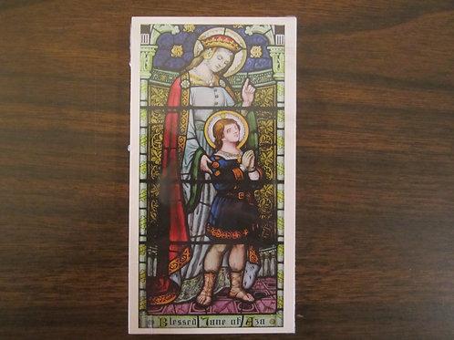 2157 Bl. Jane of Aza Prayer Card
