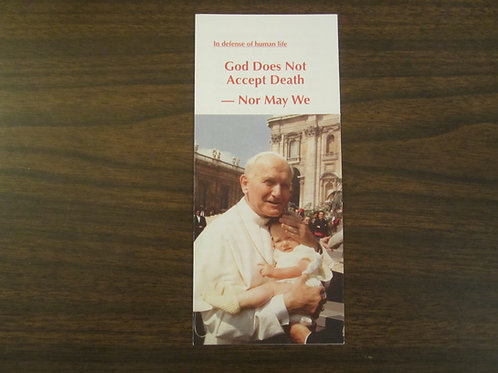 #1002 God Does Not Accept Death (Pamphlet)