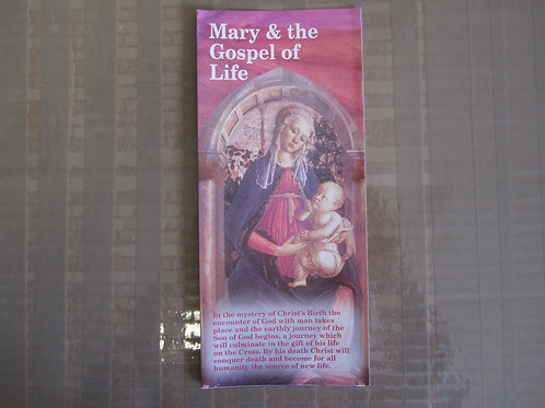 #0328 Mary and the Gospel of Life (Pamphlet)