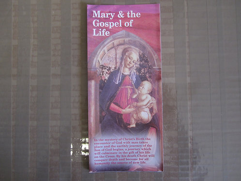 0328 Mary and the Gospel of Life (Pamphlet)