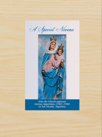 LEAFLET: Special Novena (Mary of the Rosary of San Nicolás)