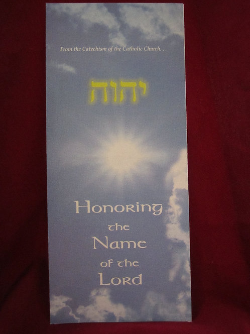 #1231 Honoring the Name of the Lord (Pamphlet)