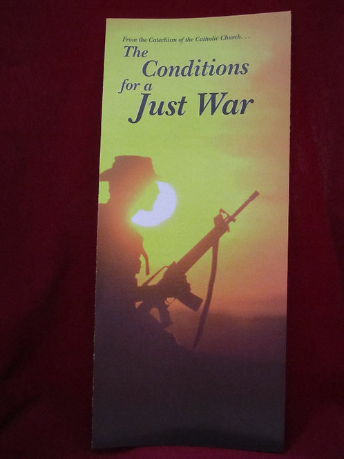 #1230 The Conditions for a Just War (Pamphlet)