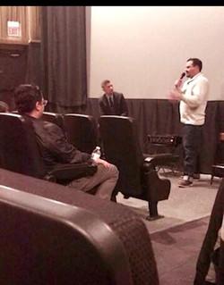 Kamen Speaking at Movie Premier