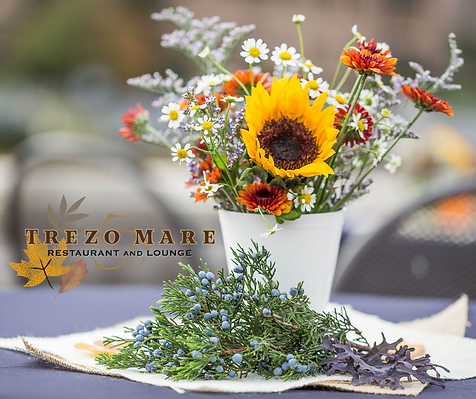Patio Dining at Trezo Mare Restaurant