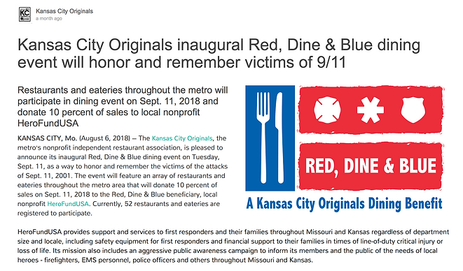Red Dine and Blue Kansas City Originals
