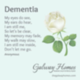 Galway Homes residential living for the memory impaired Kansas City dementia poem