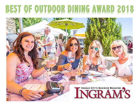 Trezo Mare wins Best of Outdoor Dining Kansas City