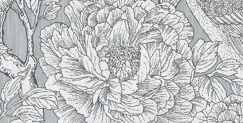 Grade C: Gray Floral