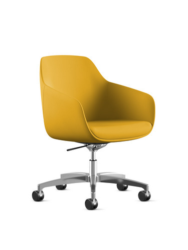 Lemon Yellow Home office desk chair_edit