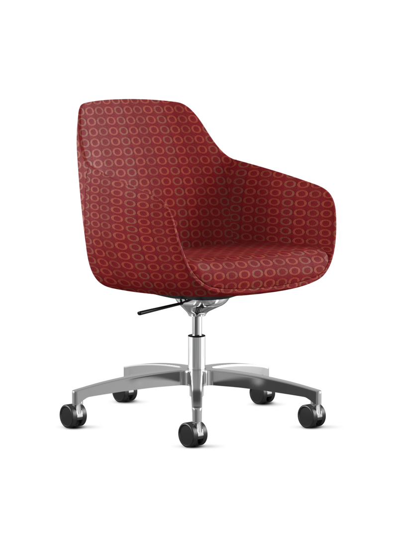 red home office desk chair