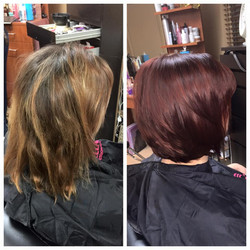 Before and after. Deep Red