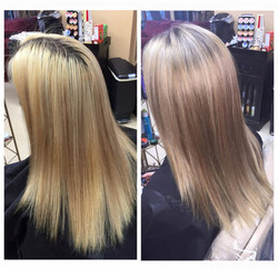 bleach retouch and icy toner