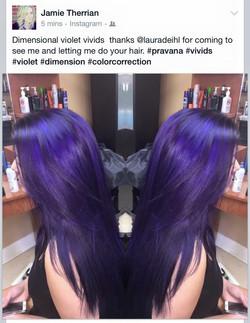 Vibrant dimensional purple