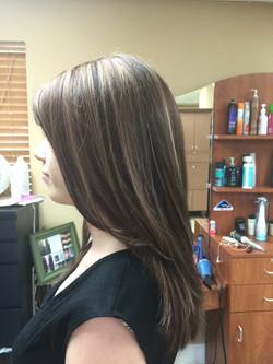 Blonde Highlights with auburn base